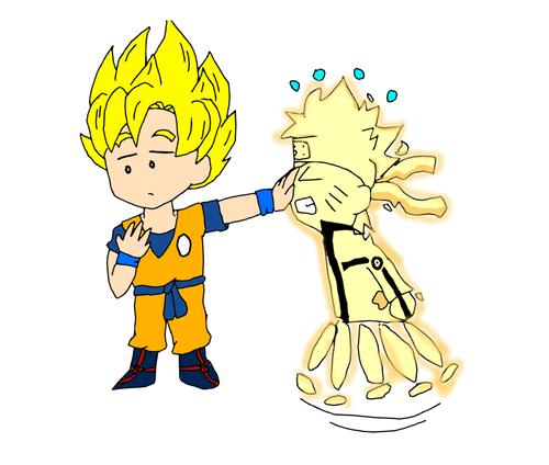 anime Debate achtergrond entitled Goku vs Naruto