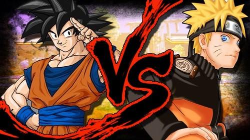 anime debat wallpaper containing anime titled goku vs naruto