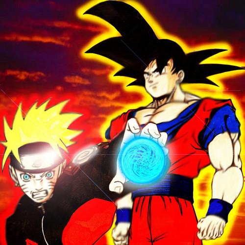 anime Debate achtergrond with anime entitled Goku vs Naruto