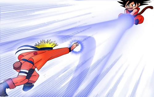 anime Debate achtergrond called Goku vs Naruto