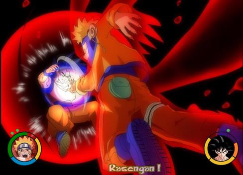 anime debat wallpaper called goku vs naruto