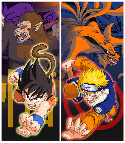 anime debat wallpaper possibly containing anime called goku vs naruto