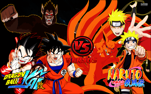 anime debat wallpaper containing anime titled goku vs naruto