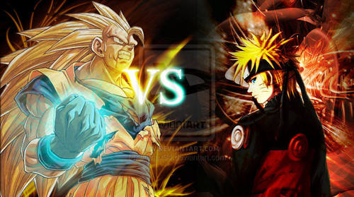 anime Debate achtergrond called Goku vs Naruto