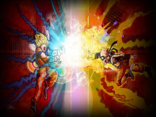 anime debat wallpaper entitled goku vs naruto