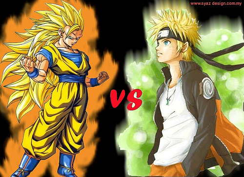 anime Debate achtergrond possibly containing anime called Goku vs Naruto