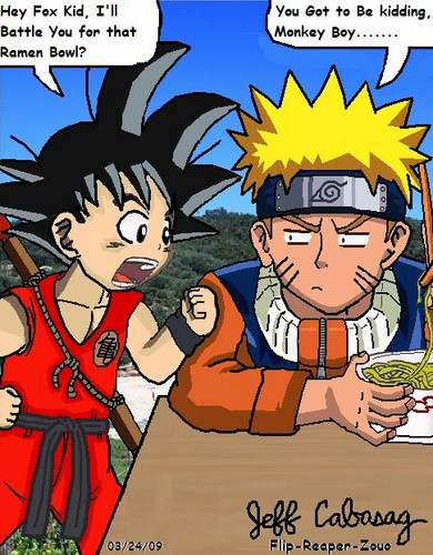 anime Debate achtergrond containing anime entitled Goku vs Naruto