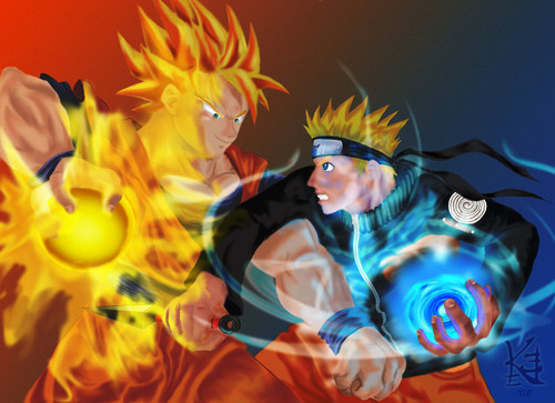 anime debat wallpaper titled goku vs naruto