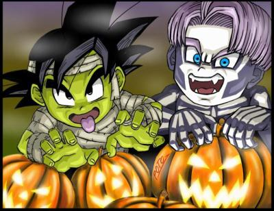 Dragon Ball Z wallpaper probably containing Anime titled Goten and Trunks Halloween