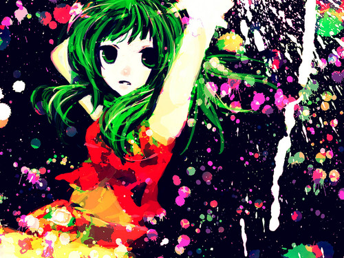 anime Girls achtergrond entitled Gumi/Megpoid [Vocaloid]