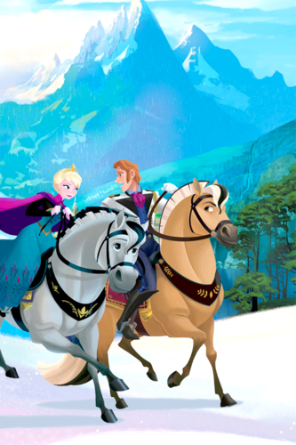 Hans wallpaper with a lippizan called Hans and Elsa