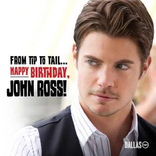 Josh Henderson kertas dinding containing a business suit, a suit, and a portrait titled Happy Birthday Hendu! ಇ