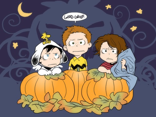 Supernatural wallpaper probably containing anime called Happy Halloween