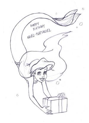 Happy birthday ARIEL-RAPUNZEL