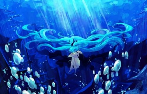 anime Girls achtergrond called Hatsune Miku [Vocaloid]