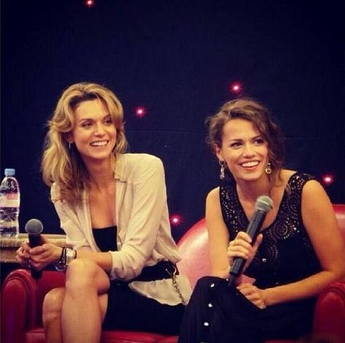 QueenCordelia वॉलपेपर possibly containing a well dressed person and a portrait titled Hilarie & Joy in Paris, October 2013 ♥