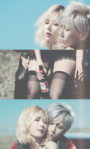 4minute wallpaper possibly with a portrait called hyuna & Hyunseung