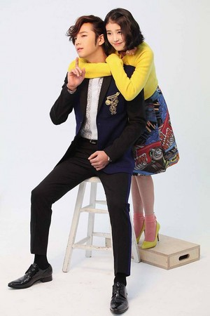 IU and Jang Geun Suk BTS Fotos from 'Pretty Man'