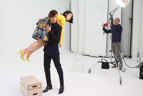 Jang Geun Suk wallpaper titled IU and Jang Geun Suk BTS photos from 'Pretty Man'