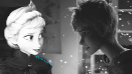 disney crossover wallpaper titled Jack Frost x Elsa