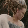 Jadis looks at the waterfall and river thawing and is not pleased. - jadis-queen-of-narnia photo