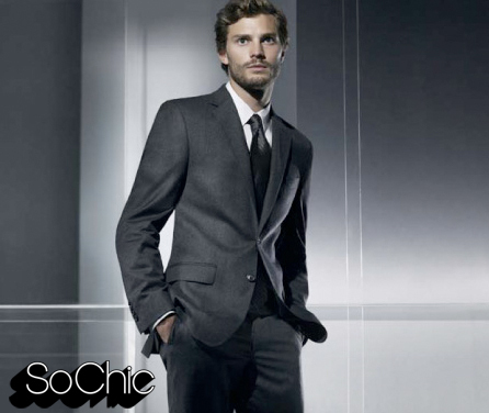 Fifty Shades of Grey wallpaper with a business suit, a suit, and a two piece titled Jamie Dornan,aka Christian Grey