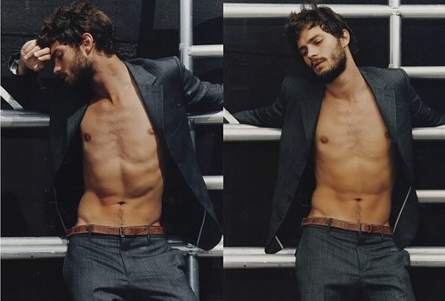 Fifty Shades-Trilogie Hintergrund containing a stück, hunk and a six pack entitled Jamie Dornan aka Christian Grey