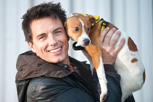 John Barrowman with dogs.