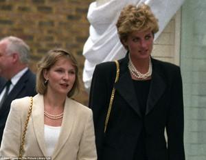 Julia Samuel with Diana