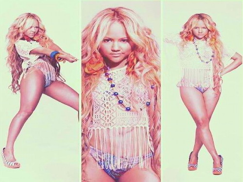 Kat DeLuna Hintergrund possibly with attractiveness, a bustier, and a badeanzug entitled Kat