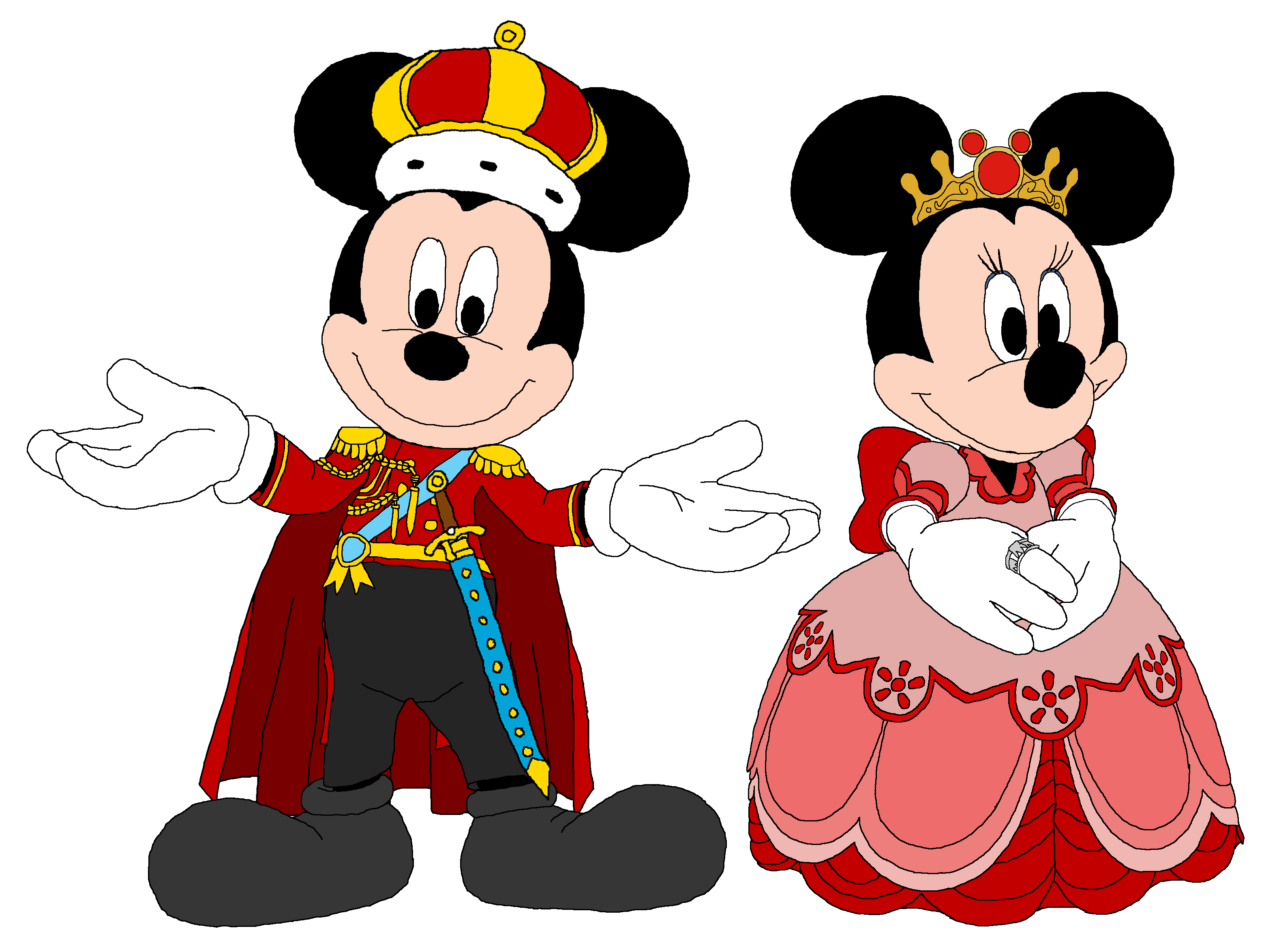 King Mickey and reyna Minnie - Kingdom Hearts