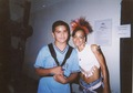 Lisa with her fan (while making The Block Party video) - lisa-left-eye-lopes photo