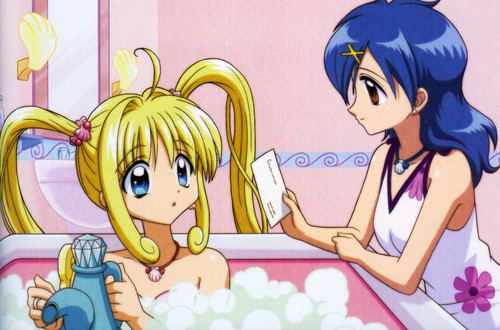 Mermaid Melody Hintergrund with Anime called Luchia & Hanon