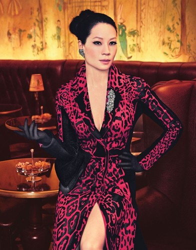 lucy liu wallpaper possibly containing a well dressed person called Lucy Liu// Watch! Magazine October 2013
