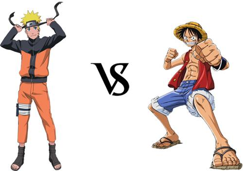 One Piece kertas dinding titled Luffy and Naruto