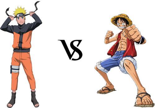 anime debat wallpaper entitled Luffy vs naruto