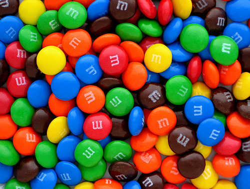 Chocolate wallpaper titled M&M's