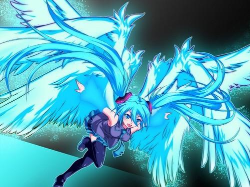 Hatsune Miku Hintergrund entitled MIKU