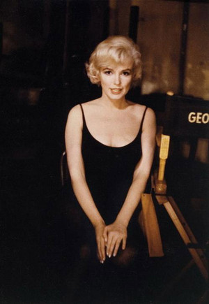 Marilyn on the set of Let's Make Love