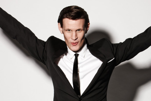 The Eleventh Doctor wallpaper with a business suit, a suit, and a three piece suit called Matt Smith ♥