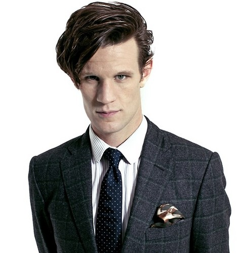 The Eleventh Doctor karatasi la kupamba ukuta with a business suit and a suit titled Matt Smith ♥