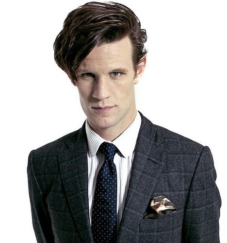 The Eleventh Doctor karatasi la kupamba ukuta with a business suit and a suit entitled Matt Smith ♥