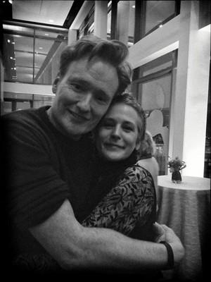 Melissa McBride & Conan O'Brien