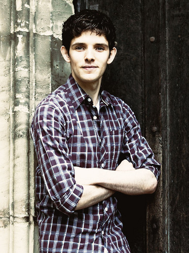 Merlin on BBC wallpaper possibly with an outerwear, a sign, and a street entitled Merlin Cast ♥
