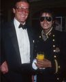 Michael And Sir Roger Moore - michael-jackson photo