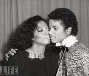 Michael and Diana Backstage