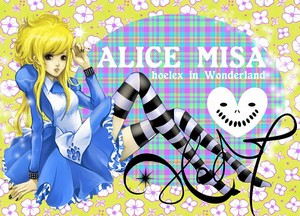Misa Amane Alice in Wonderland tagahanga Art