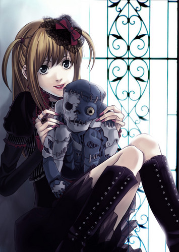 Misa Amane wolpeyper probably with a living room, a window seat, and a yungib entitled Misa tagahanga Art Gothic