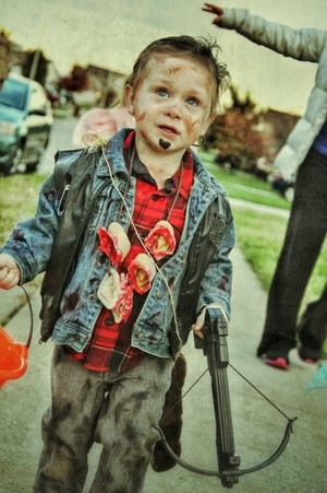 My 2 year old as Daryl Dixon