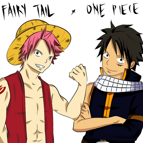 anime debat wallpaper containing anime entitled Natsu and Luffy